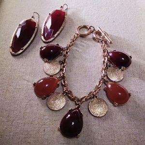Jewelry - Oxblood Maroon Jewelry Set